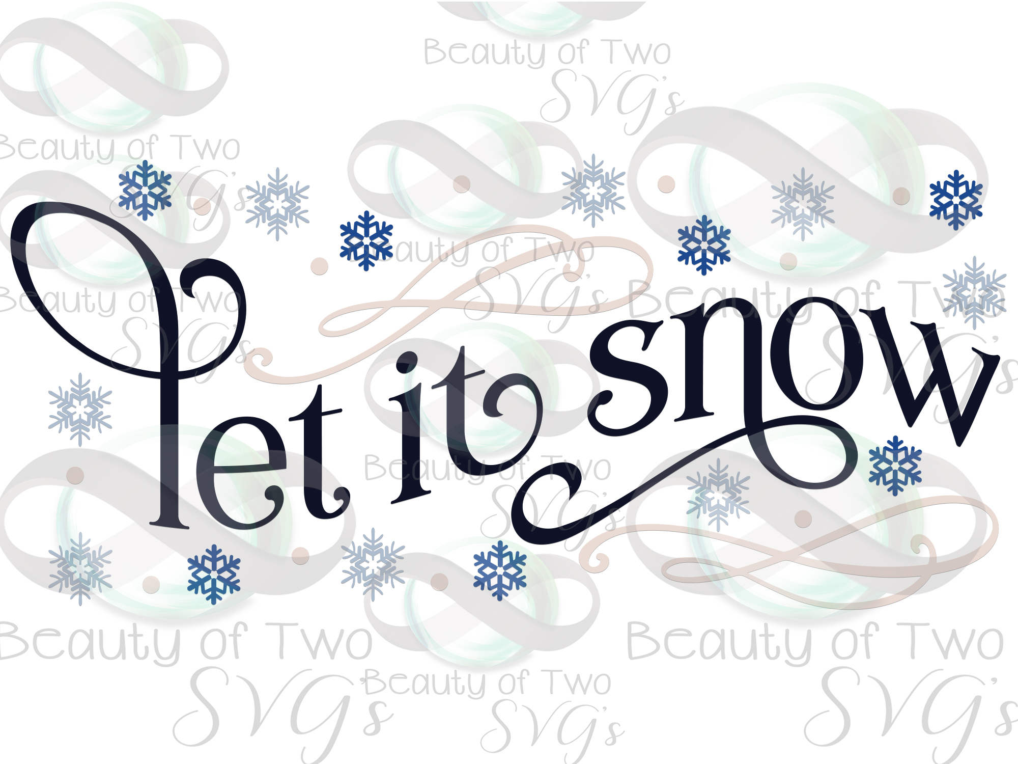 Let it Snow Snowflakes svg, Winter svg sign, snowflake svg example image 3