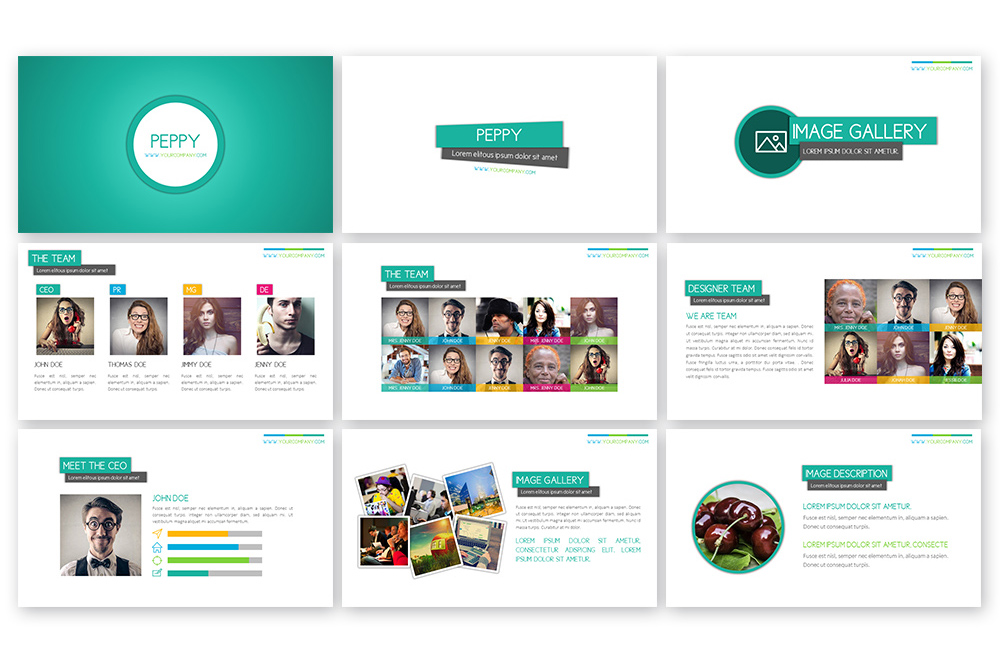 Peppy Powerpoint Template example image 3