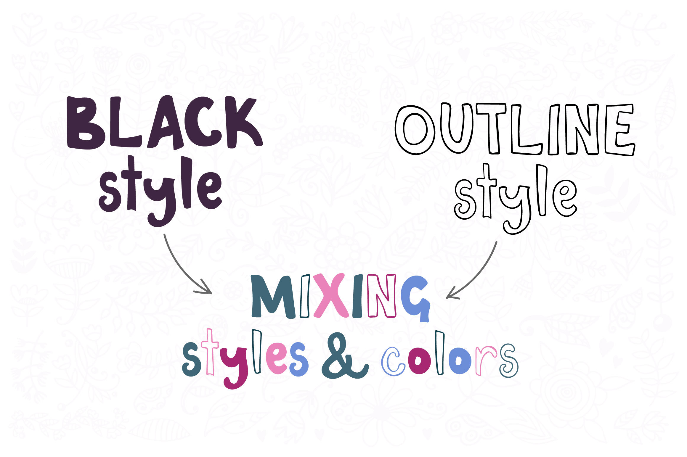 Riverbank - outline and black font family example image 4