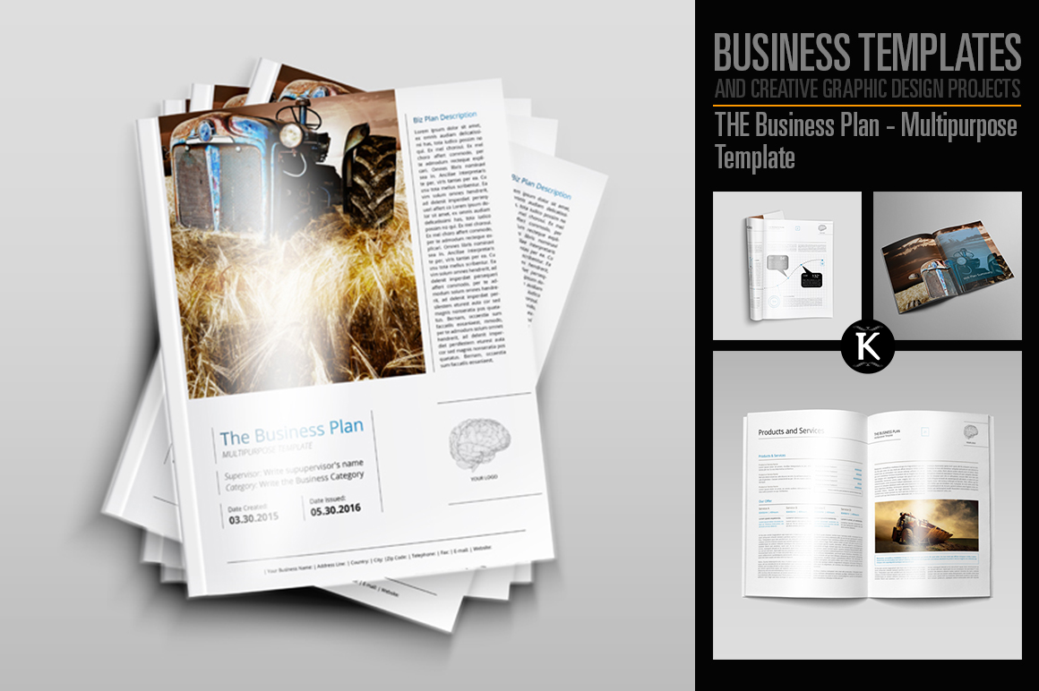 THE Business Plan - Multipurpose Template PRO example image 1
