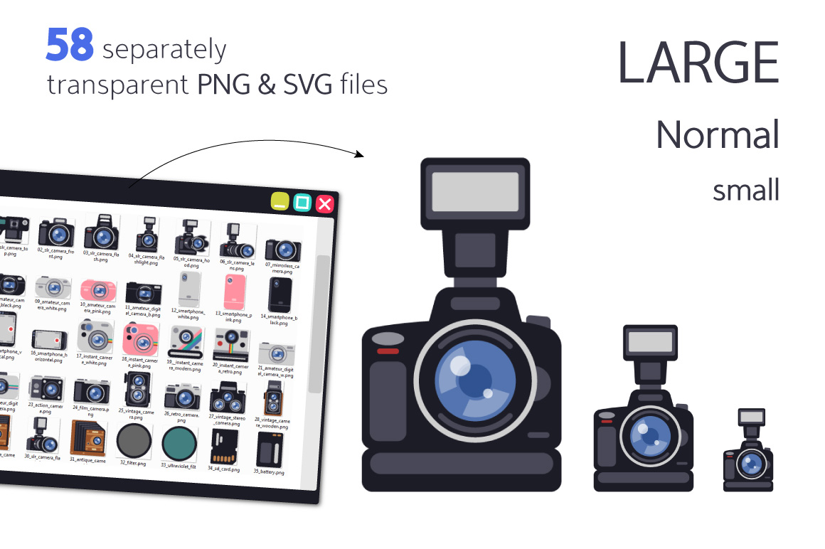 Photographer Equipment in Flat Style example image 2