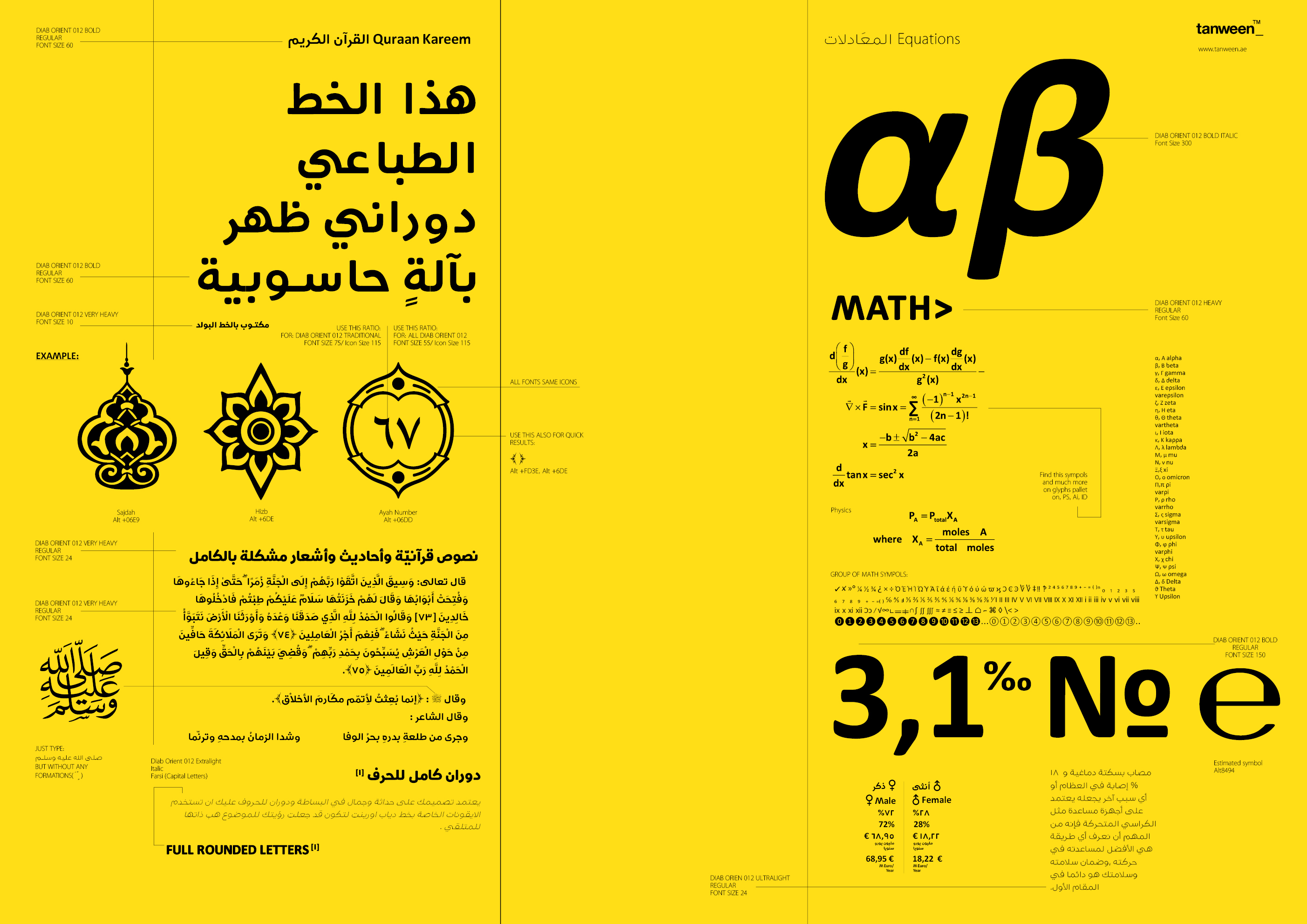 Diab Orient 018 Collection/18 font example image 15