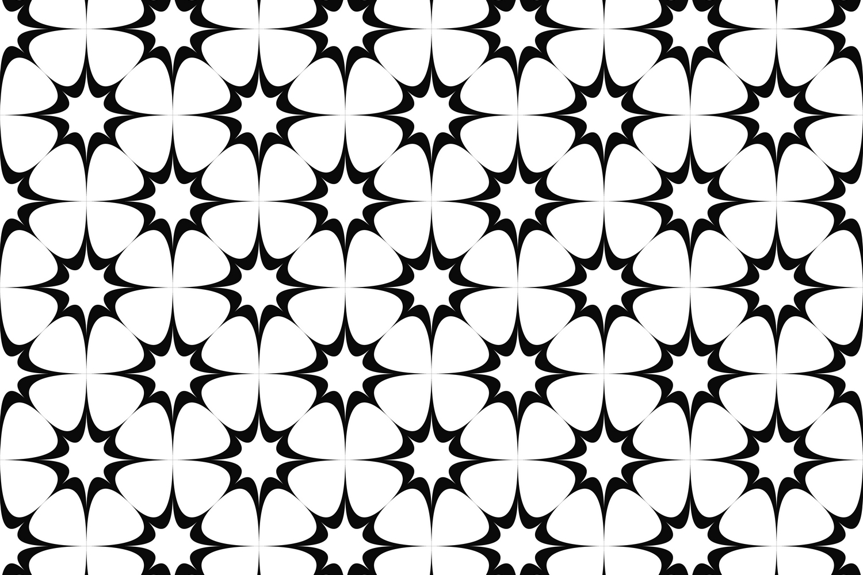 15 monochrome star patterns (EPS, AI, SVG, JPG 5000x5000) example image 2