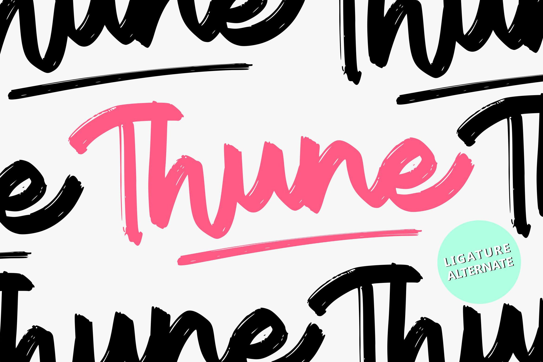 Thune | Bold Brush Font example image 1