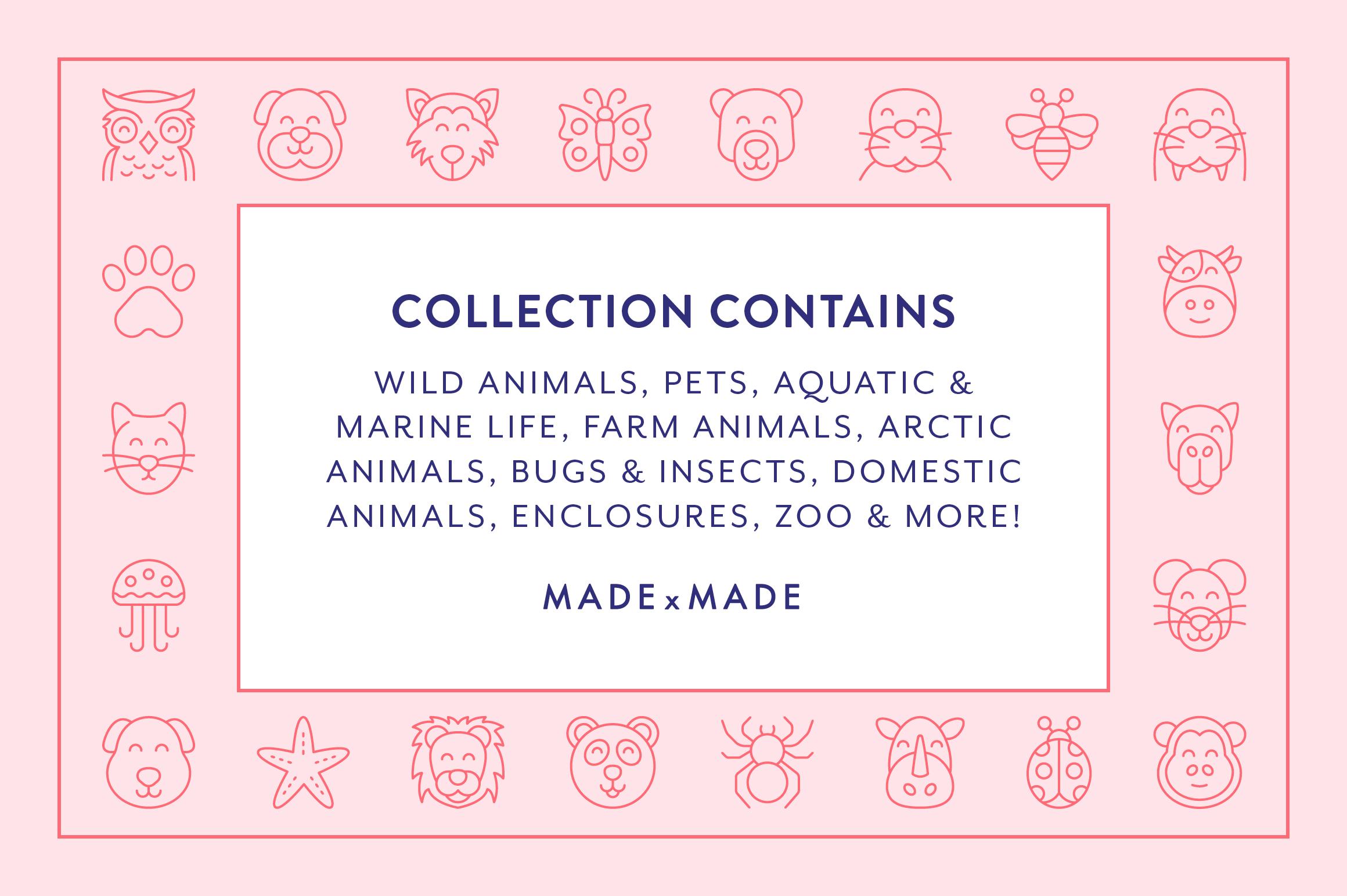 Line Icons - Animals example image 2