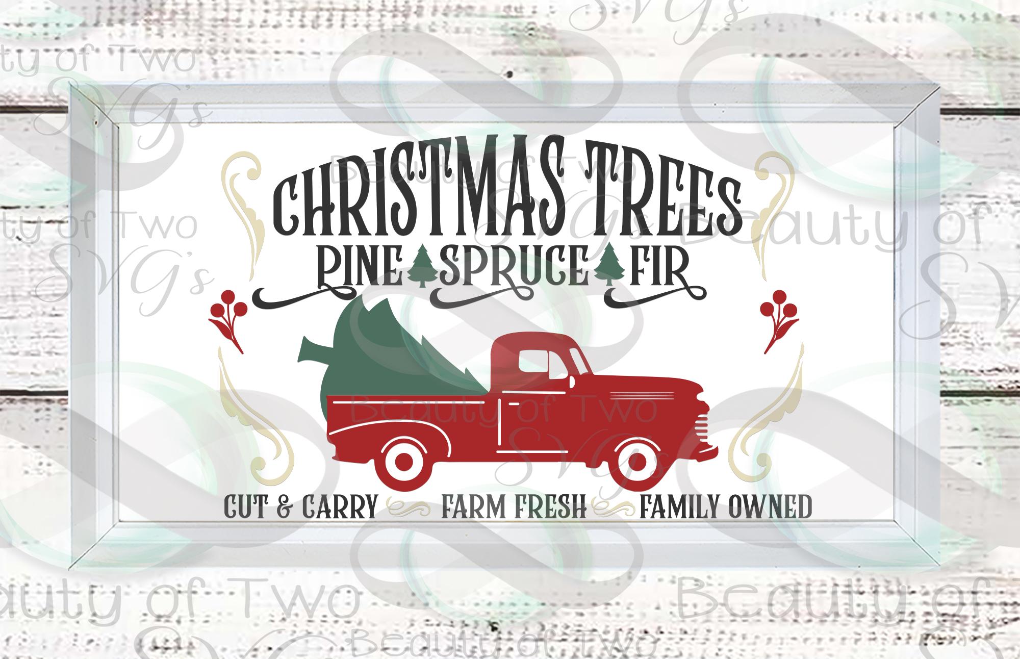 Farmhouse Christmas svg Sign Design bundle, 6 svg designs example image 2