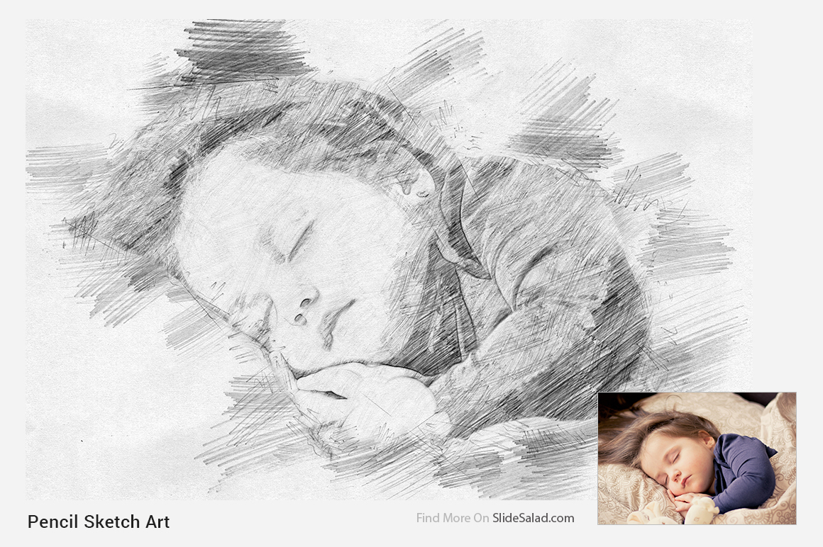 Pencil sketch art photoshop action example image 15