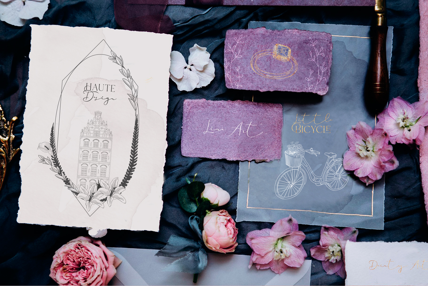 Hand drawn Decorative Illustrations example image 2