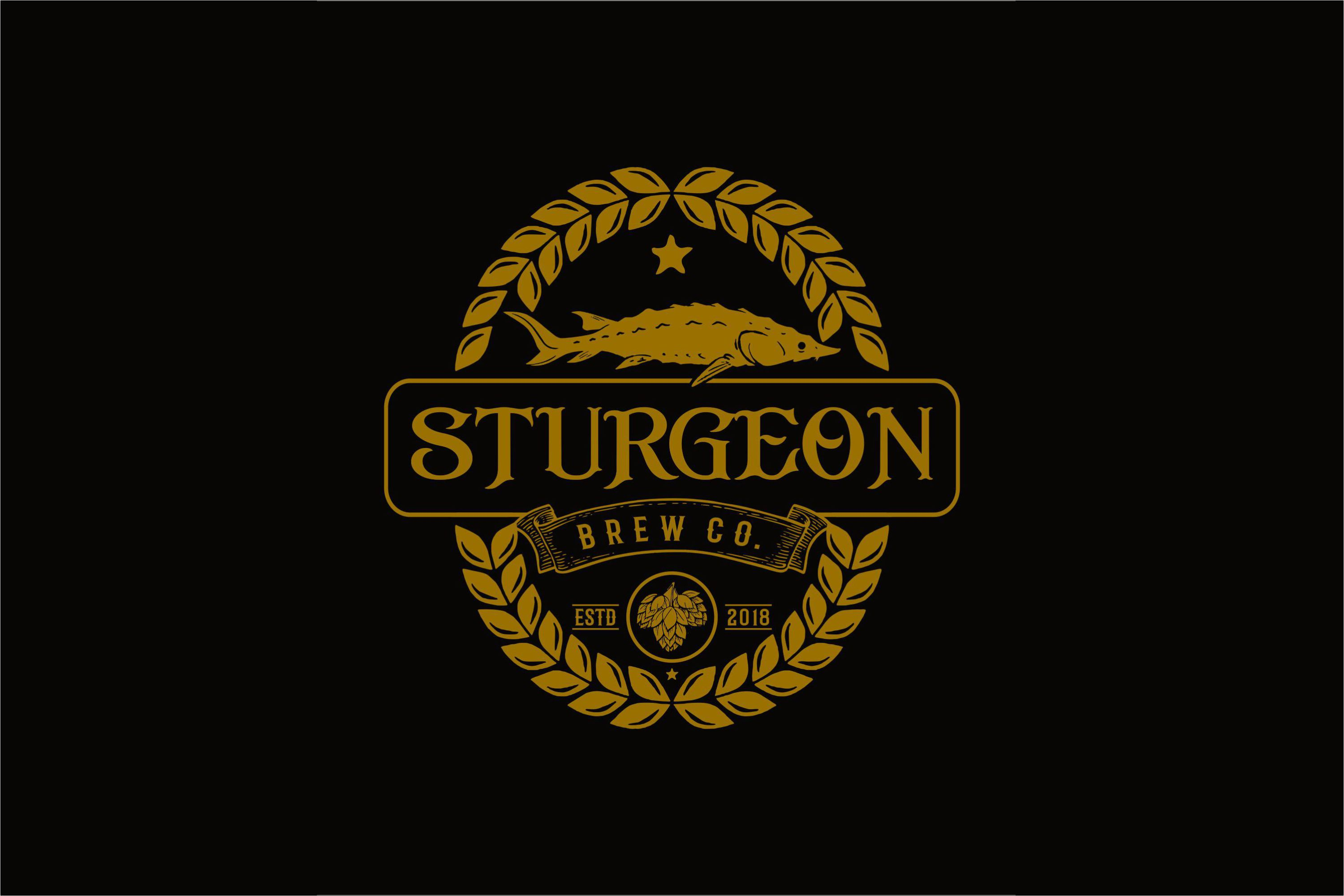 Sturgeon Vintage Logo Pack example image 4