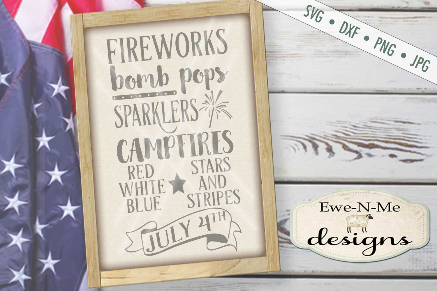 Fireworks Patriotic July 4th Subway Design SVG DXF Files example image 1