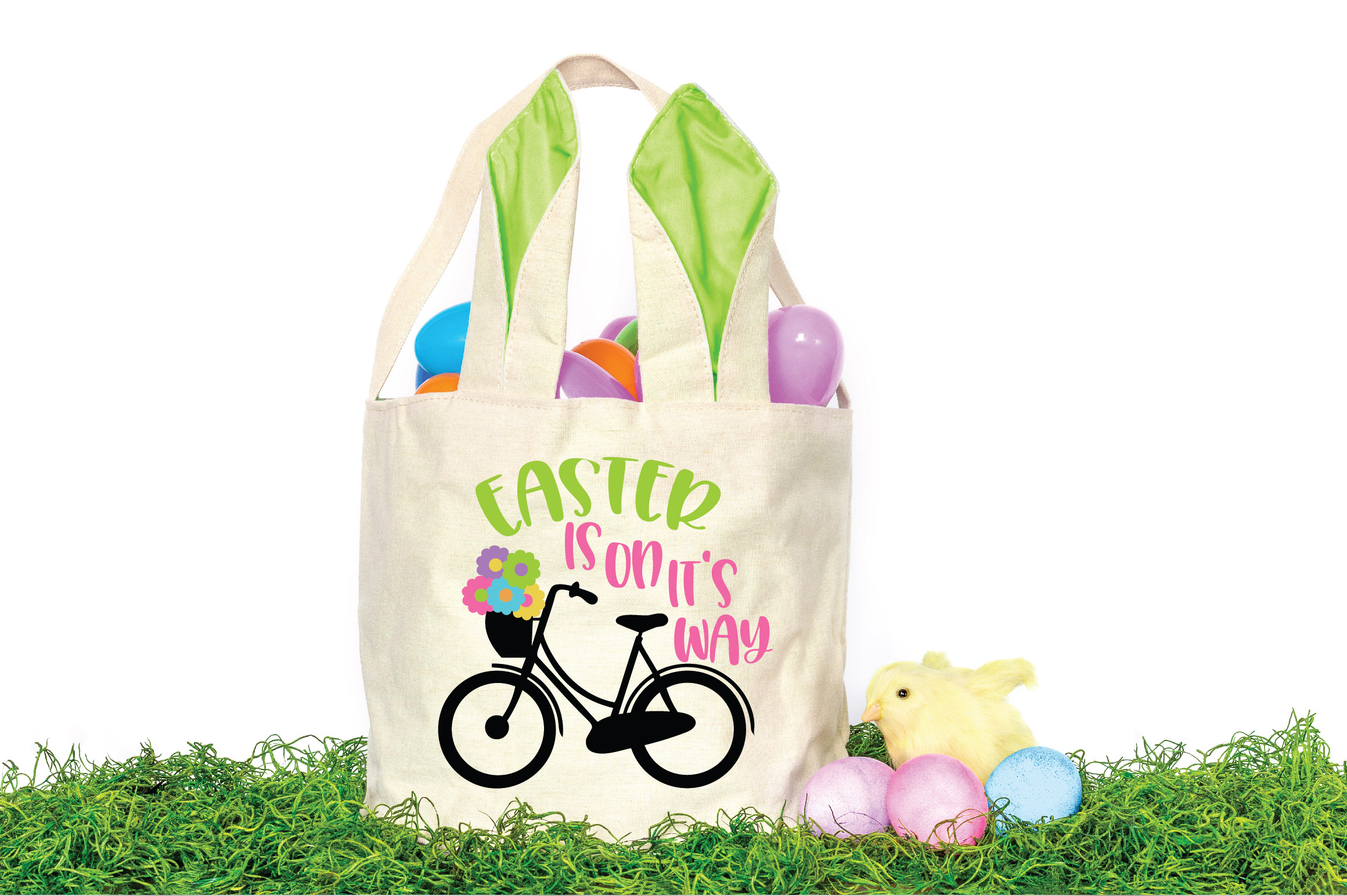 Easter SVG Cut File - Easter is on it's way SVG DXF EPS PNG example image 2