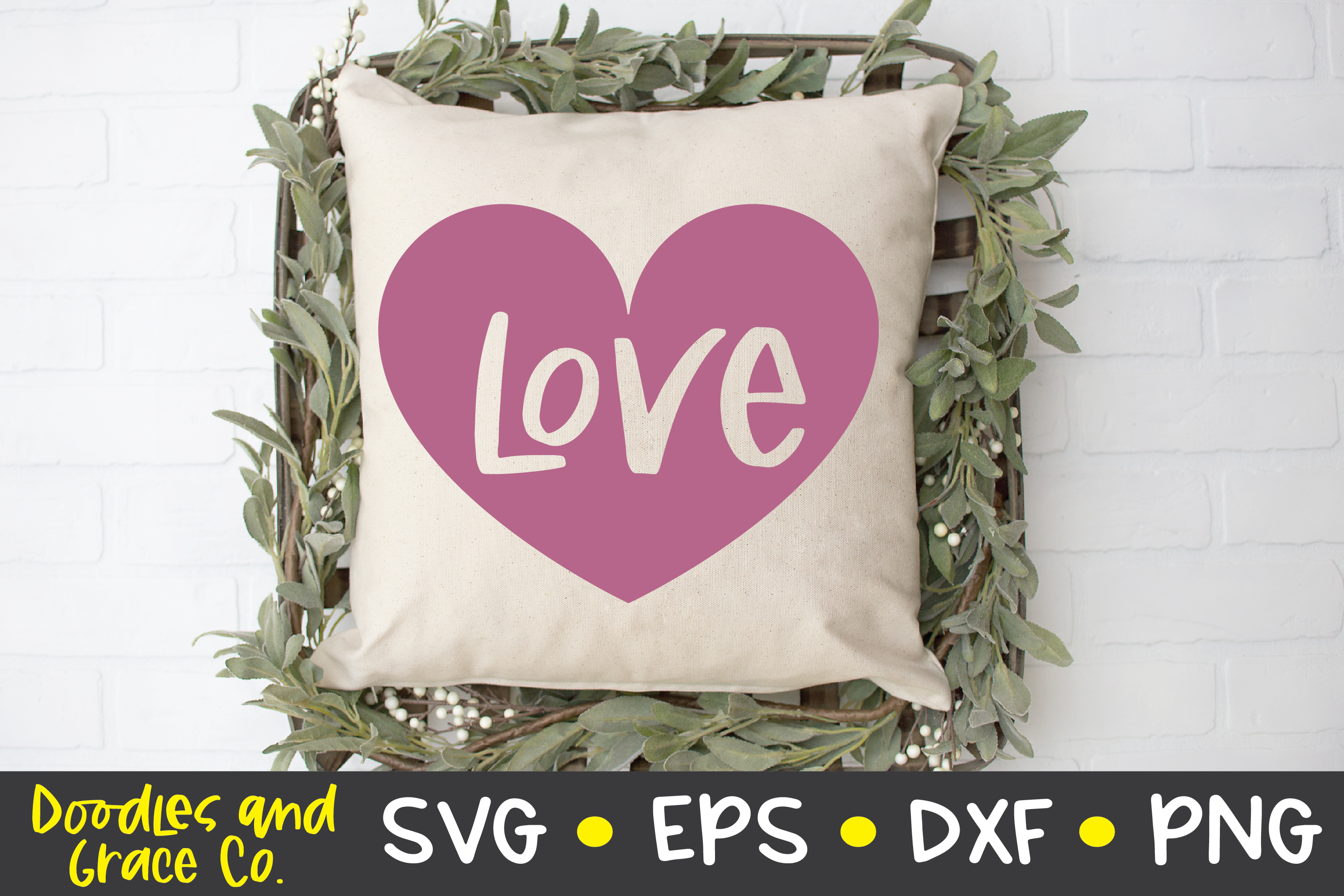 Love Heart SVG - DXF - EPS - PNG example image 3