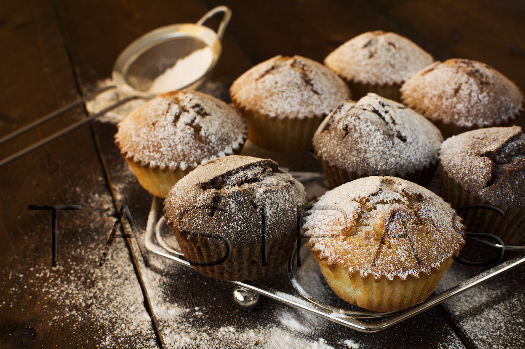 Muffins on metal stand example image 1