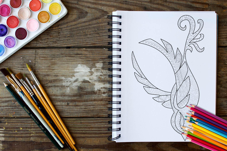 Birds Coloring Book - 30 Unique Birds Designs example image 2