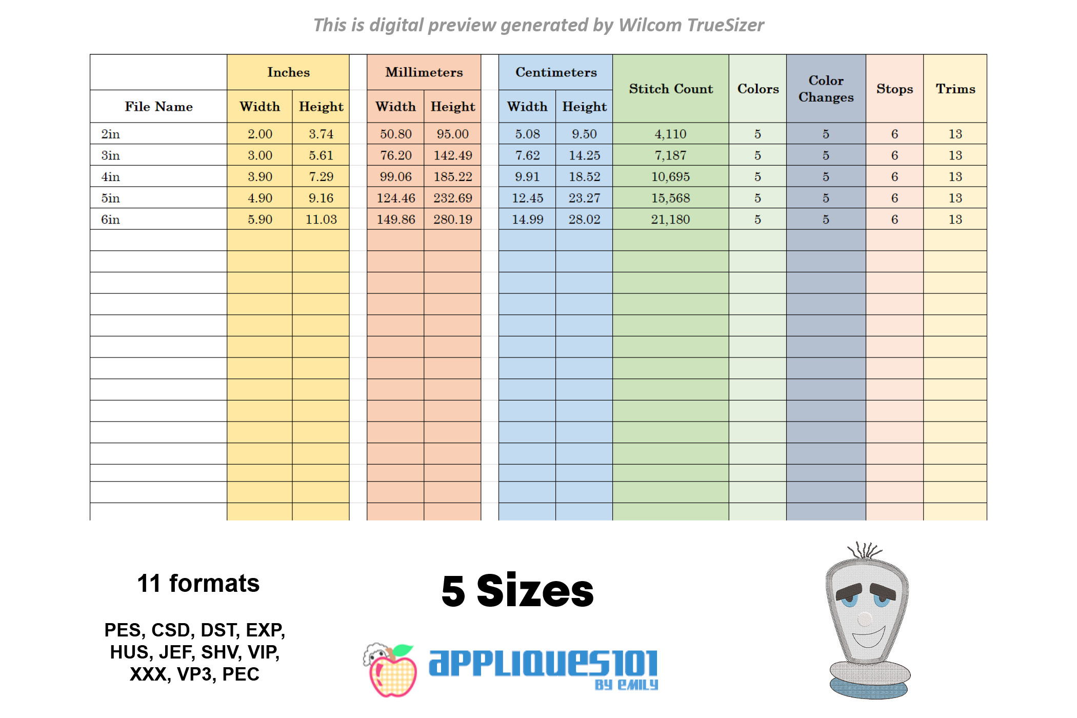 Cartoon Bulb Machine Embroidery Applique Design - Bulbs example image 2