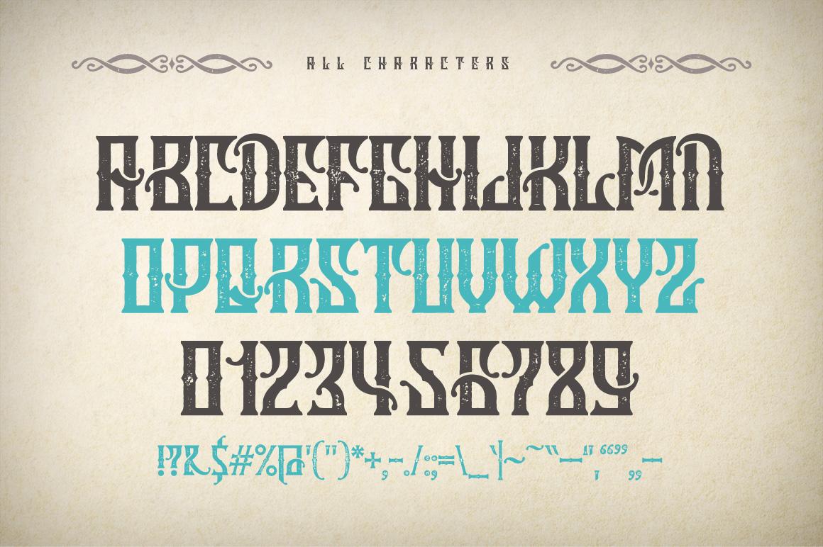 Marine fairytale typeface example image 2