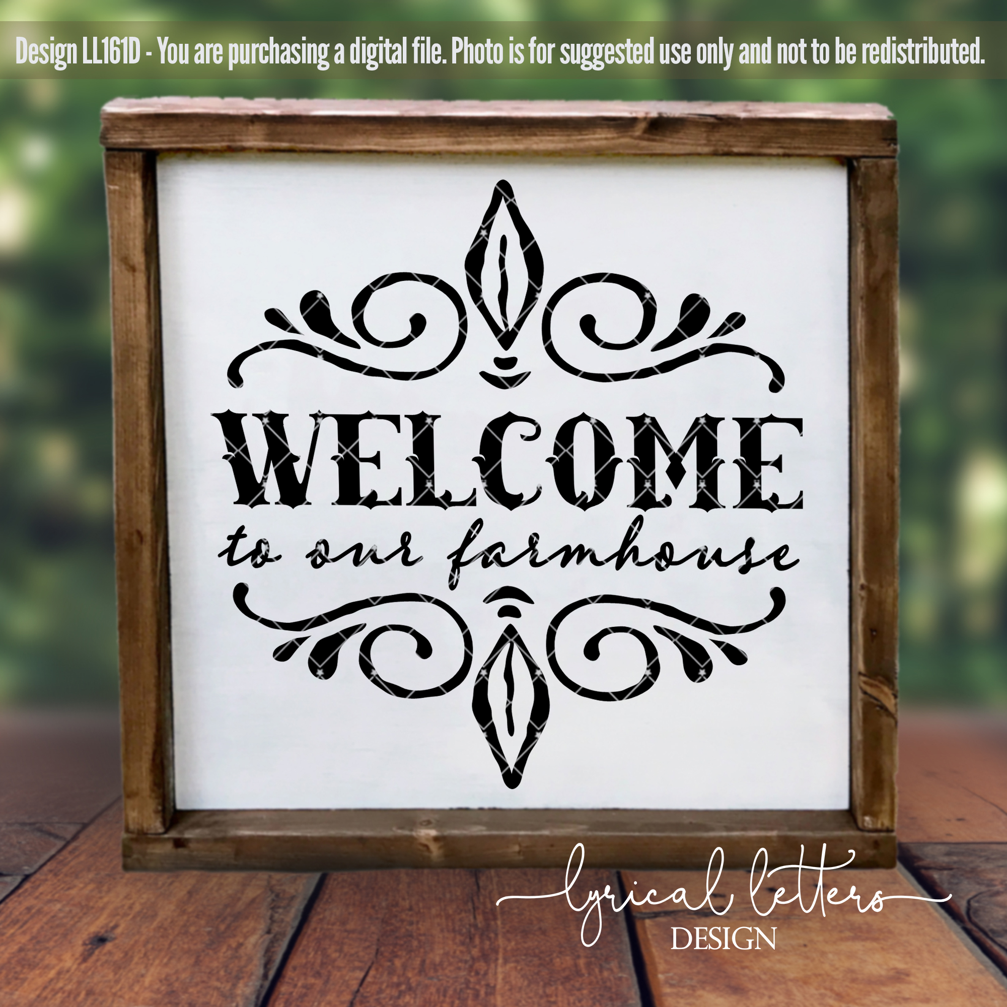 Welcome To Our Farmhouse SVG Cut file LL161D example image 2