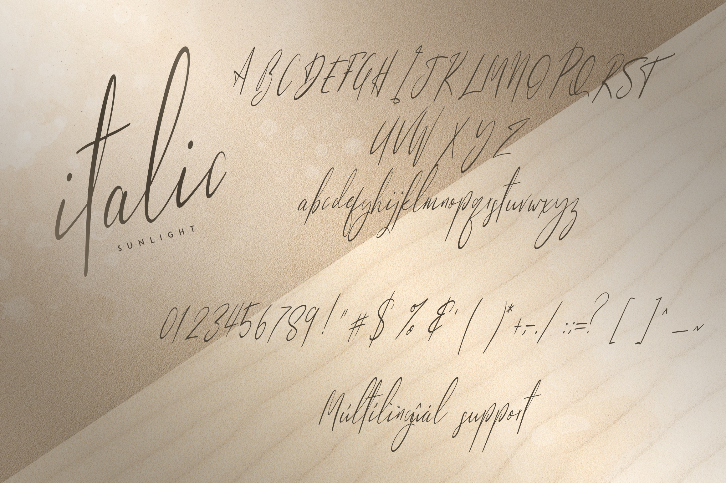Sunlight - Signature typeface example image 10