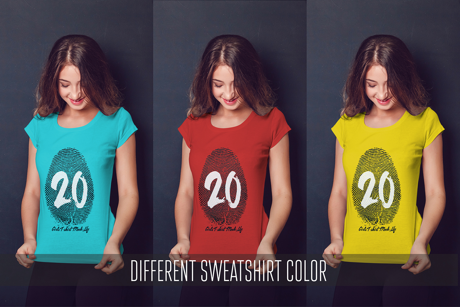 20 Top Girls T-Shirt Mock-Up example image 4