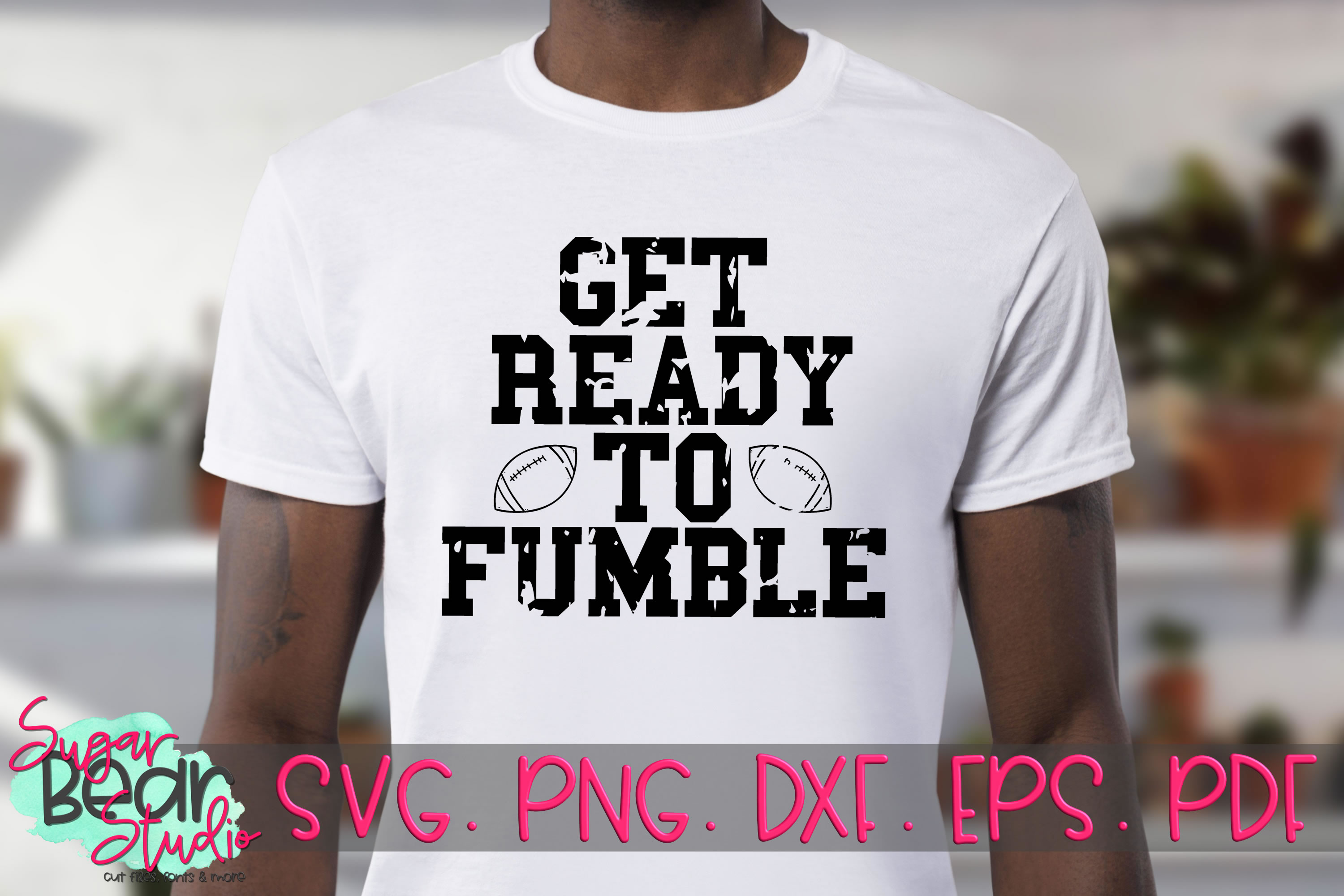 Get Ready To Fumble Distressed - A Football SVG example image 2