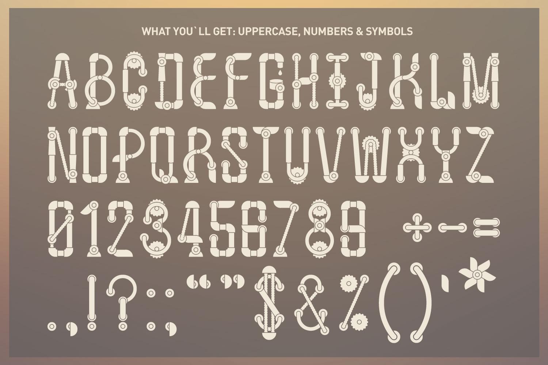 Machine font family example image 2