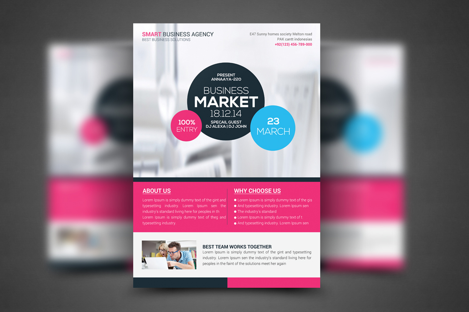 Corporate Business Flyer Temp example image 1