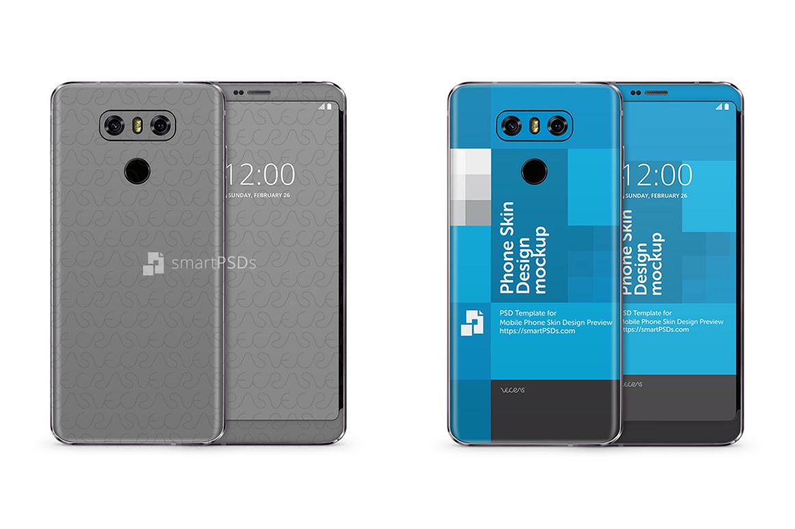 lg g6 mobile skin design template