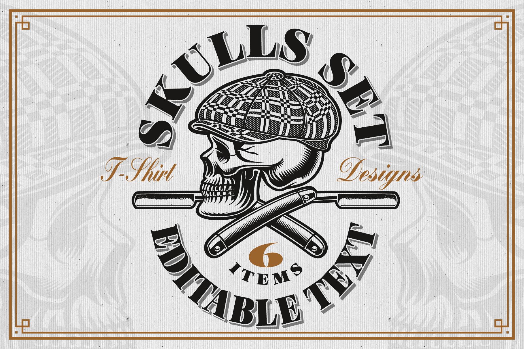 Skulls Illustrations Set example image 1