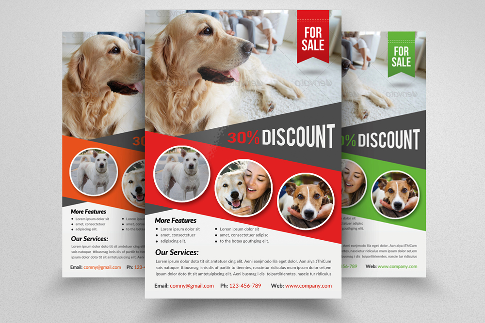 6 Pet Shop Business Flyers Bundle example image 5