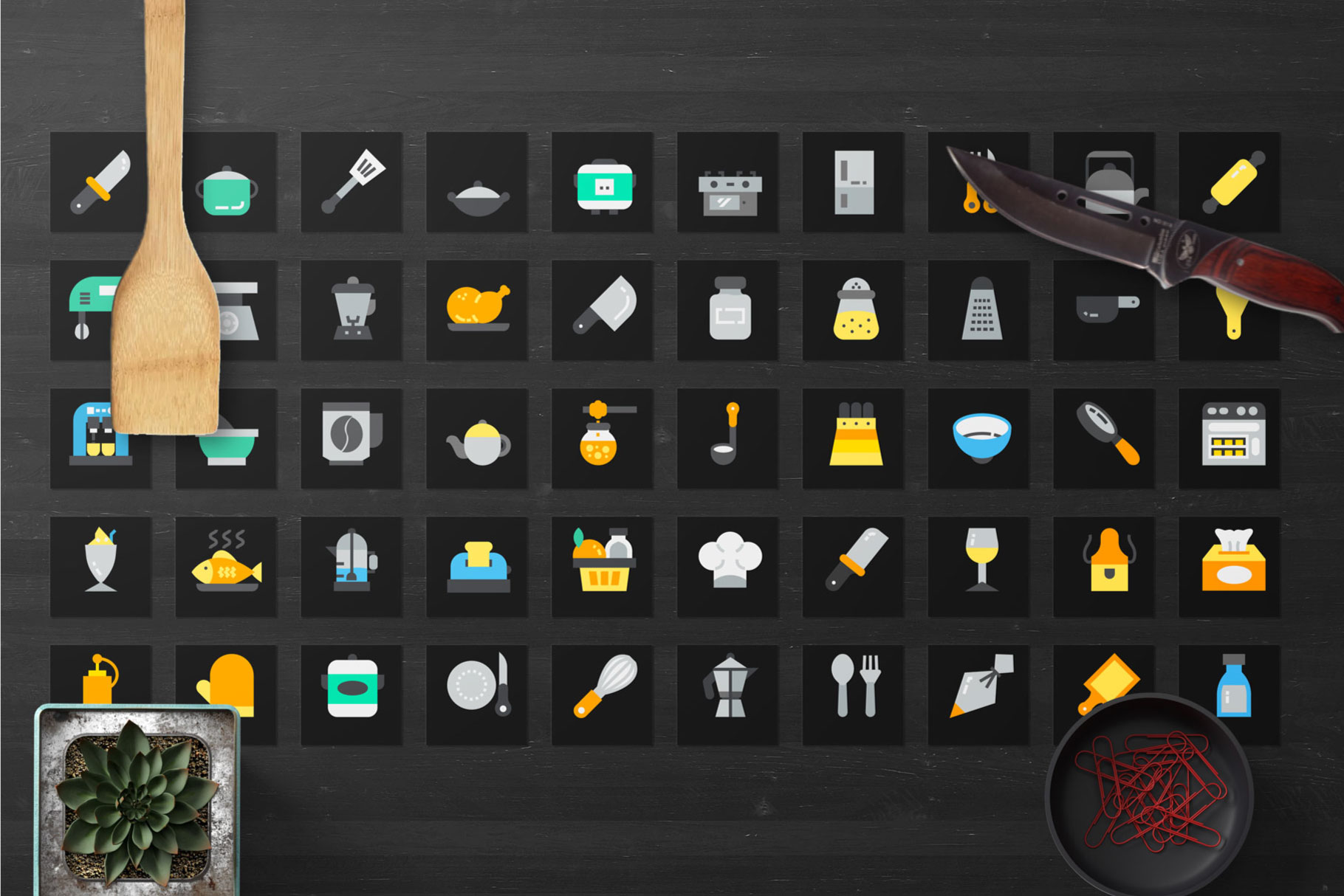 200 Kitchen Icon Pack example image 4