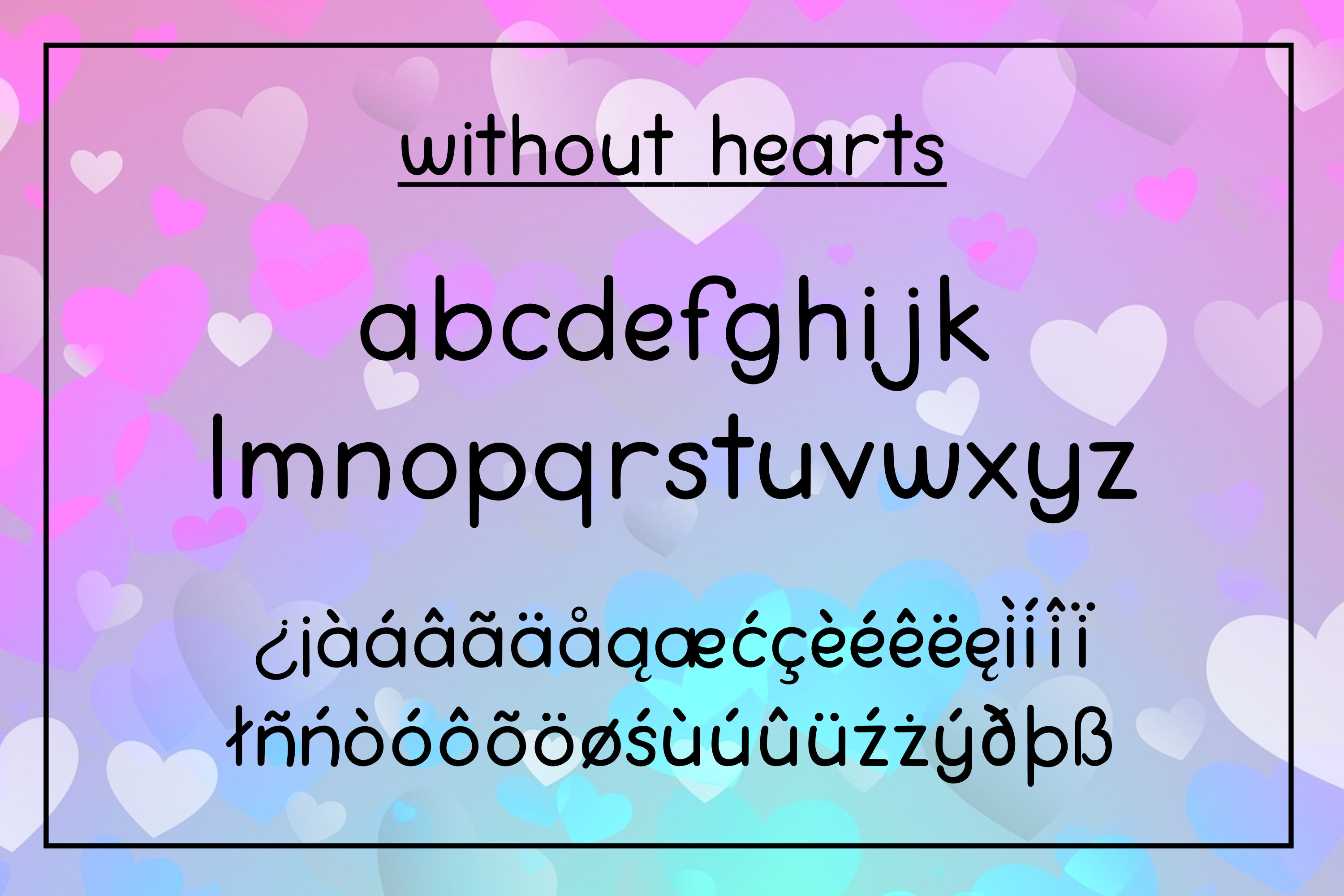 Love You Lots - a lowercase font with and without hearts example image 4
