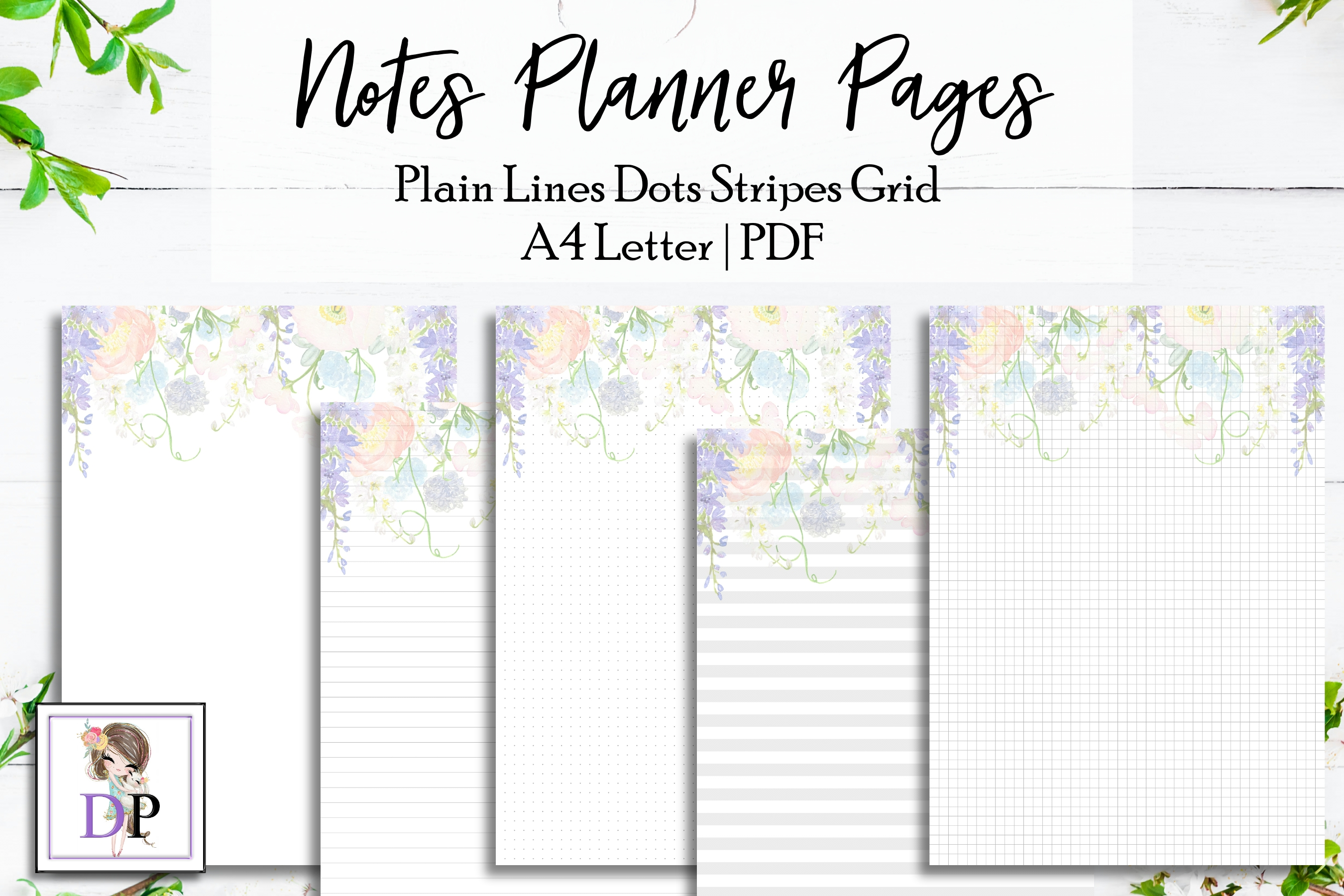 10 Notes Planner PRINTABLE Pages st15 Refill Stationary