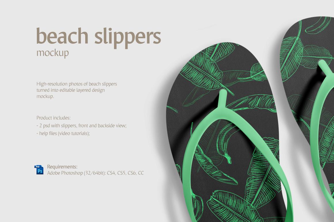 Beach Slippers Mockup example image 5