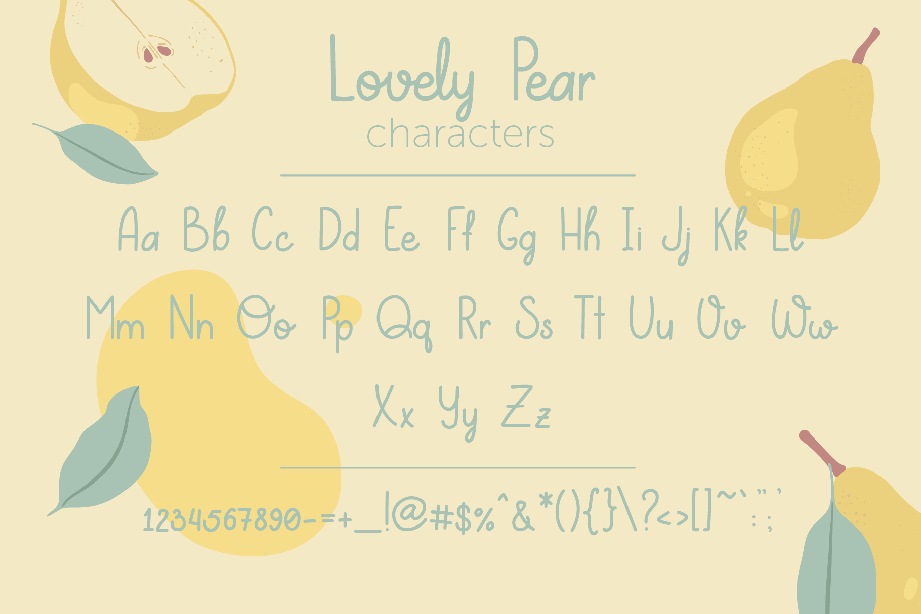 Lovely Pear | hand-written font example image 2