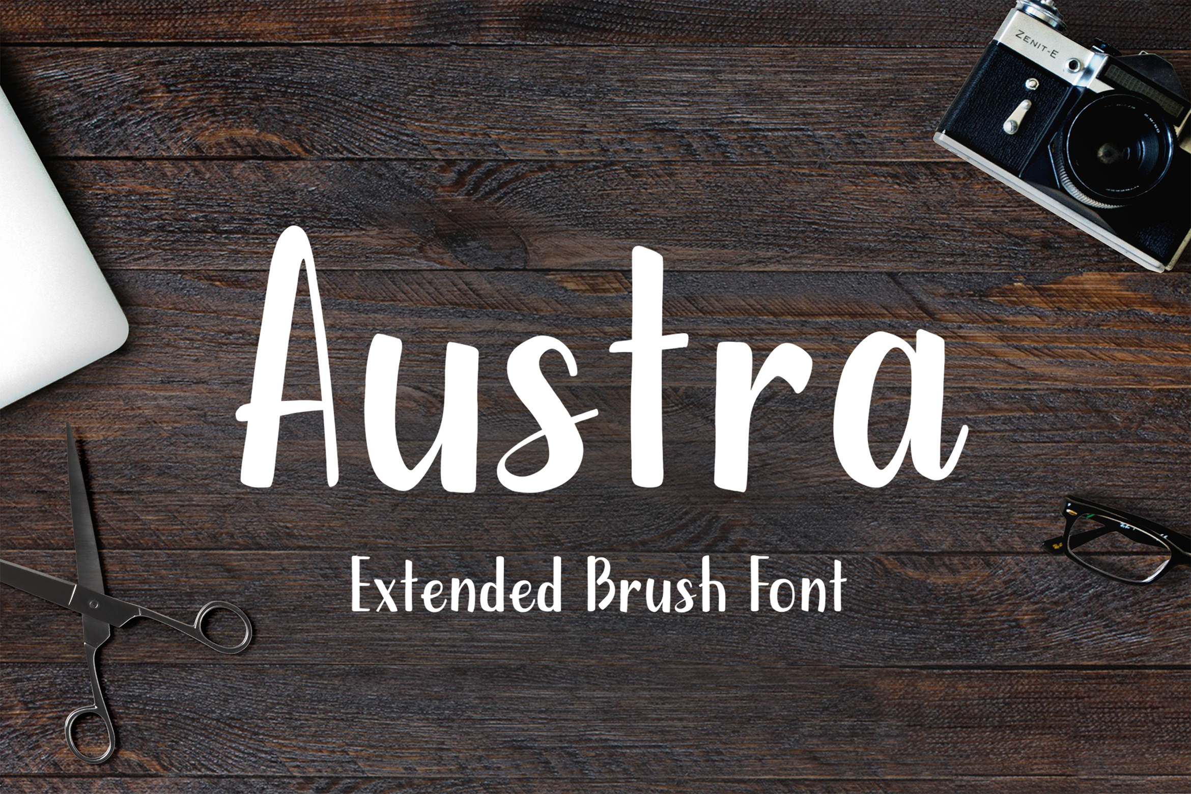 Austra Extended Brush Font example image 1
