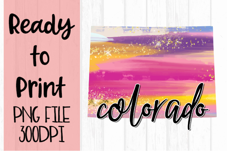 Colorado Painted States Ready to Print example image 1