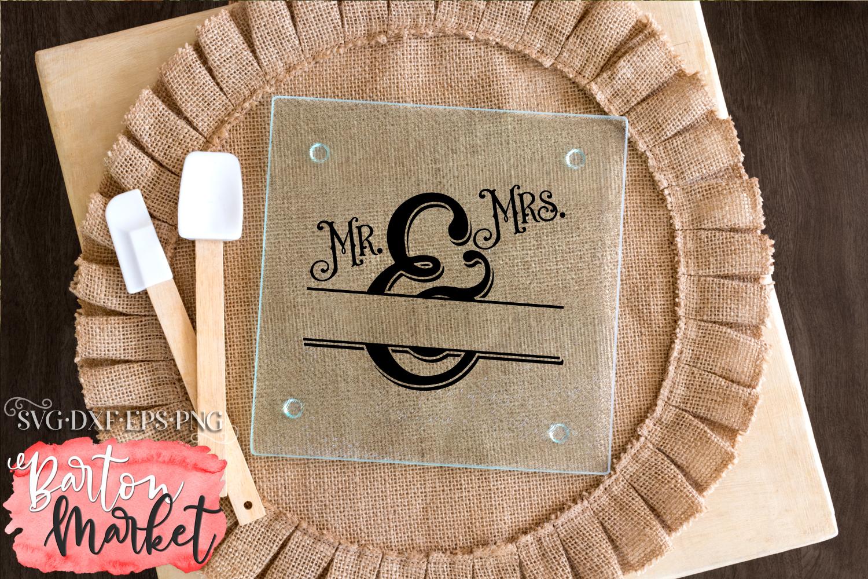 Mr & Mrs Monogram SVG DXF EPS PNG example image 4