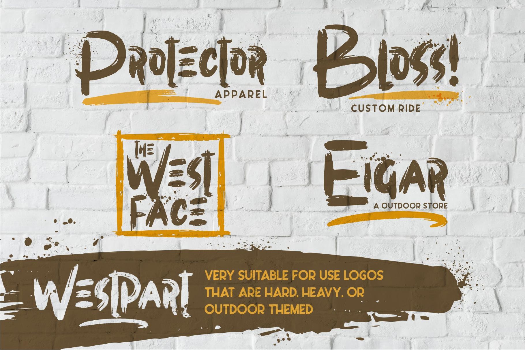 WESTPART - Brush Fonts example image 3