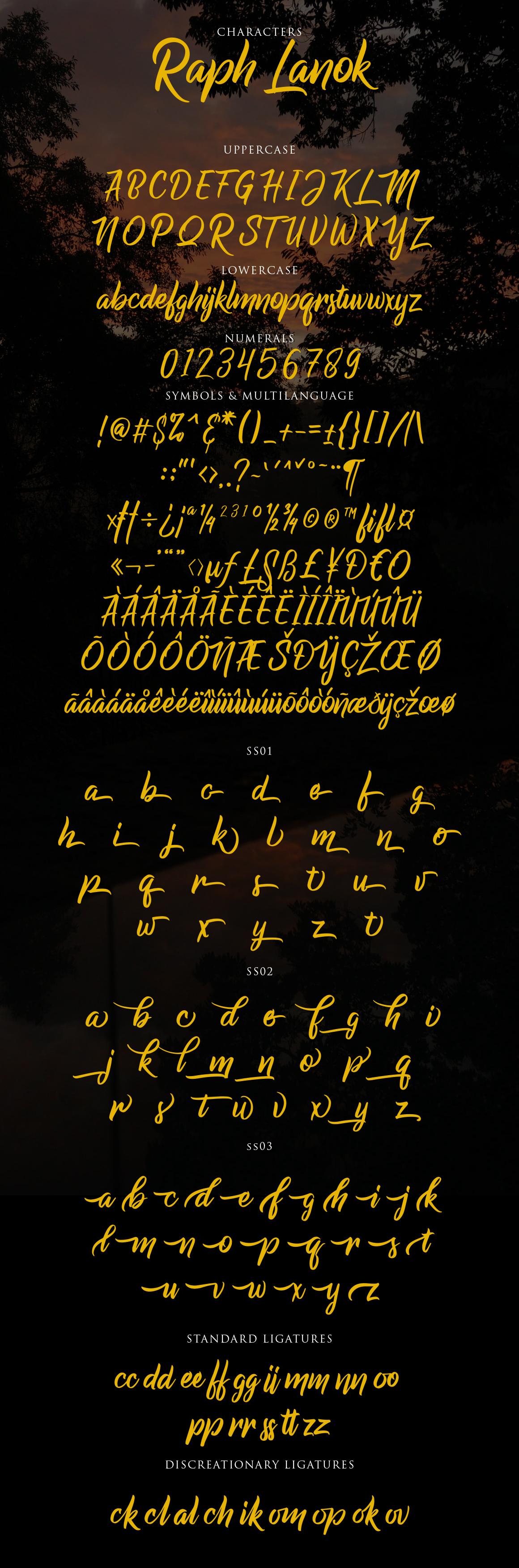 Raph Lanok Typeface example image 3
