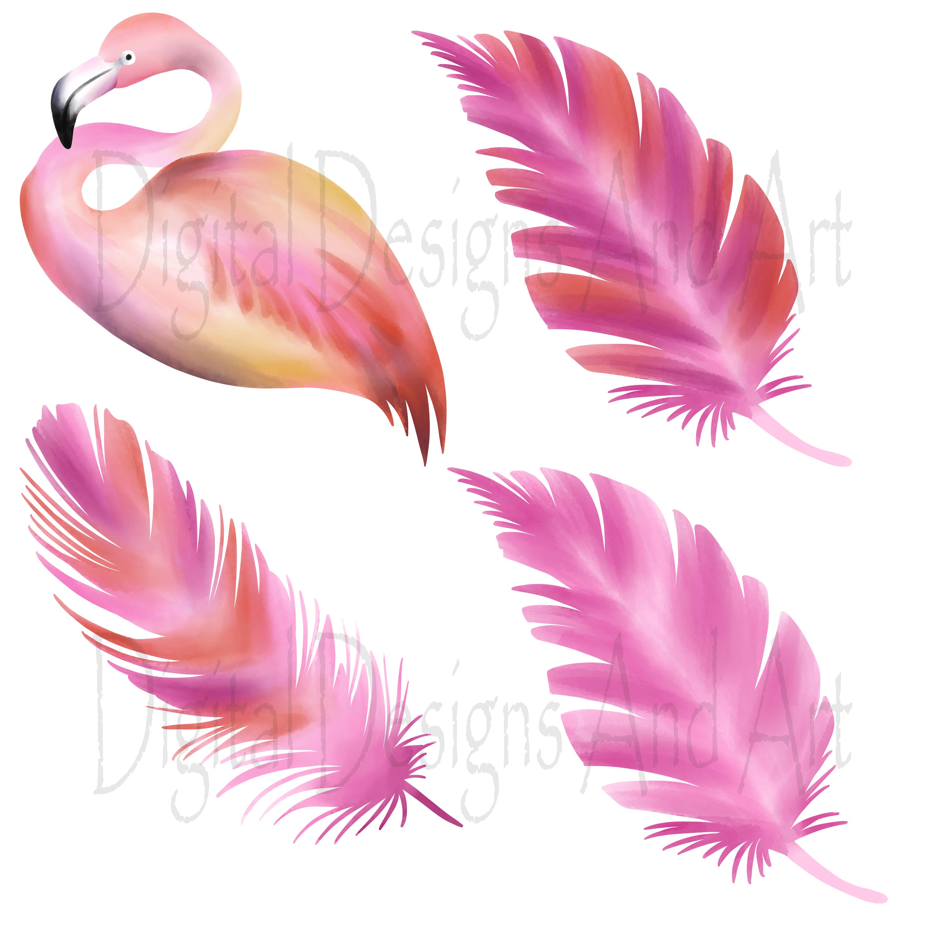 Pink flamingo clipart example image 4