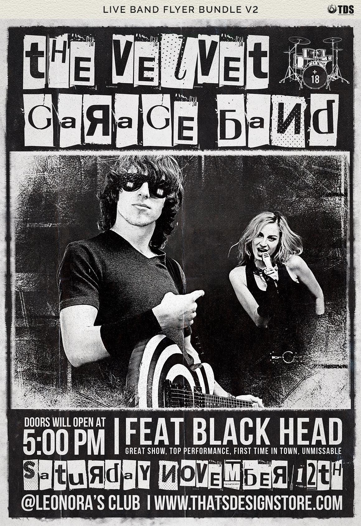 Live Band Flyer Bundle V2 example image 12
