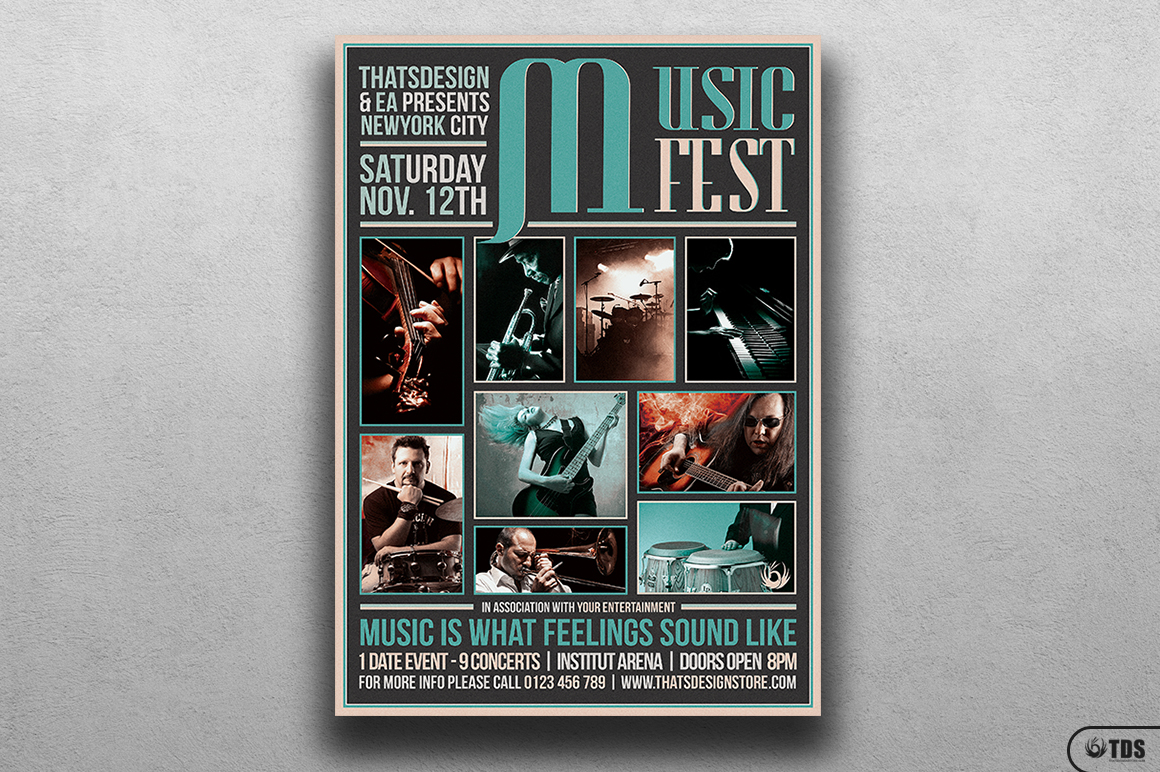 Music Festival Flyer Template V2 example image 1
