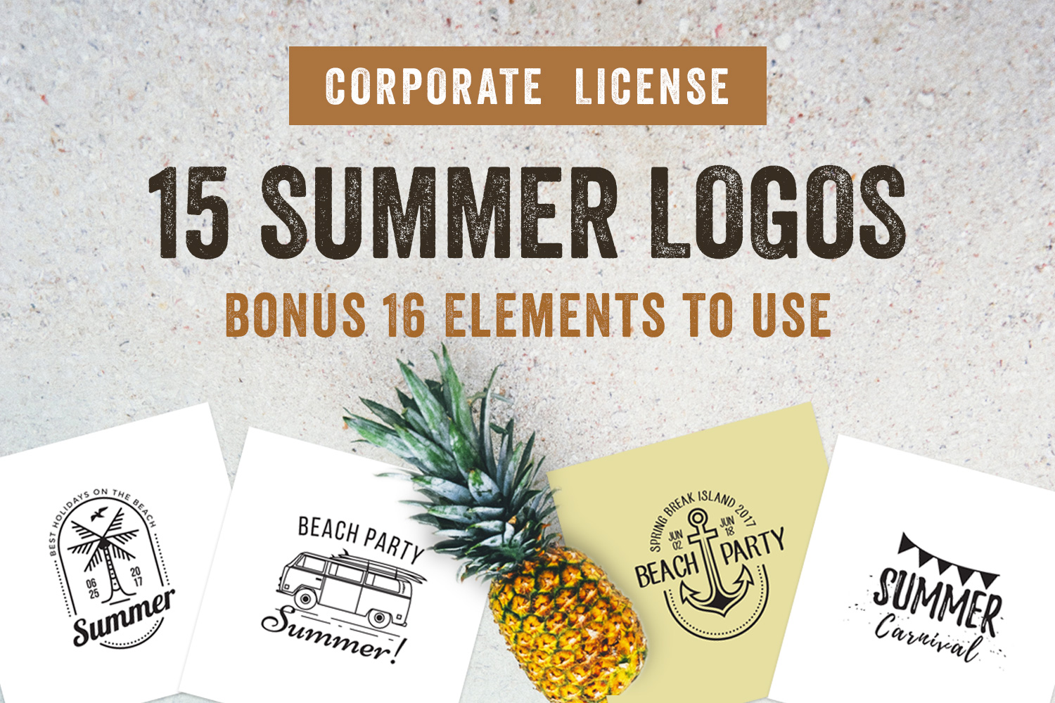 15 Summer Logo Labels & Badges Bundle example image 1