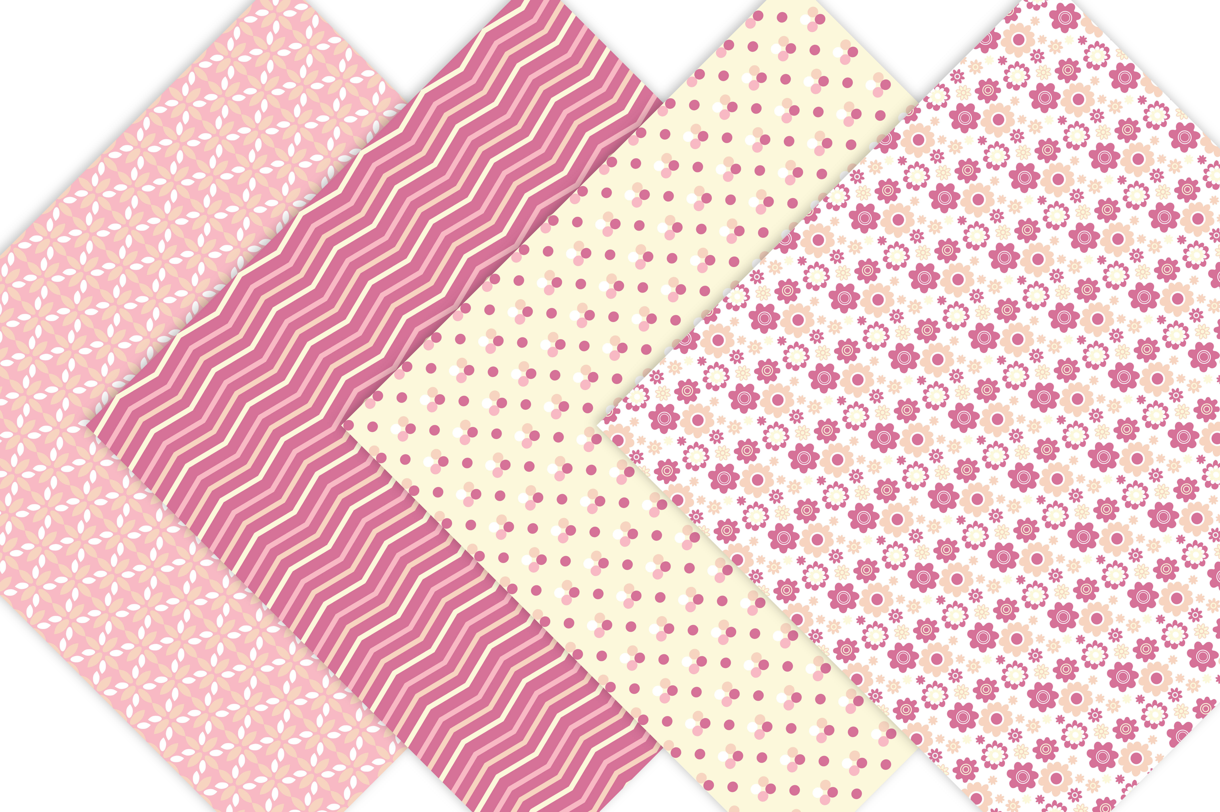 Pink and Yellow Digital Patterns example image 2