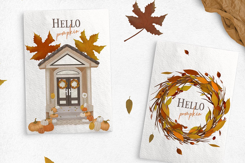 Cozy autumn clipart example image 3