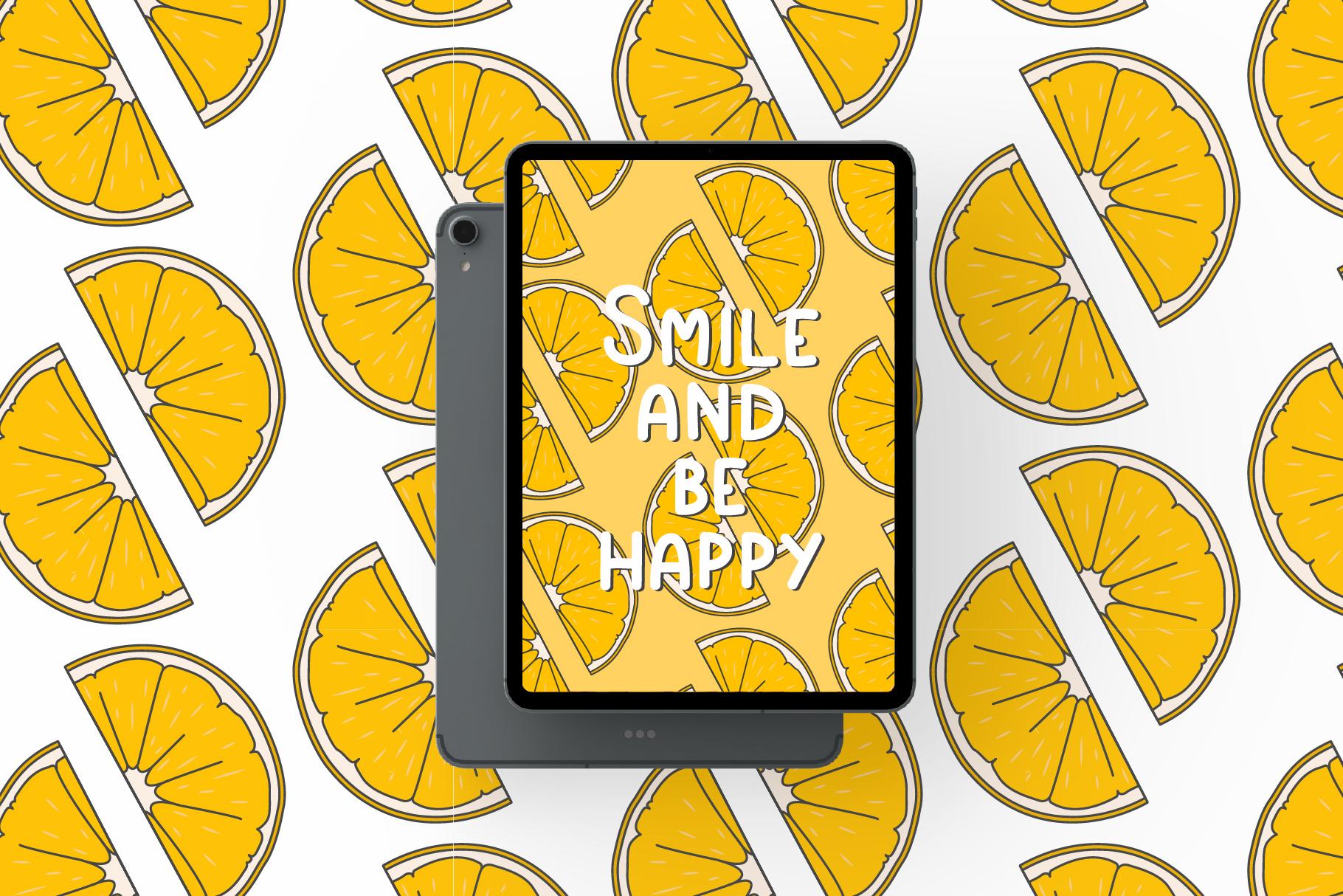 Simple playful font - Lemon example image 4