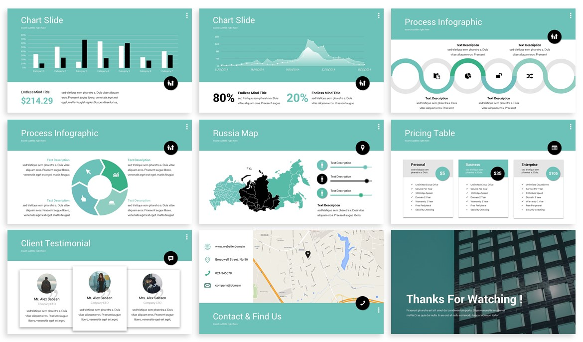 Matrid - Business Powerpoint Template example image 4