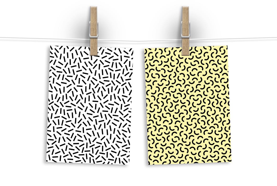 Memphis seamless patterns. Swatches example image 2