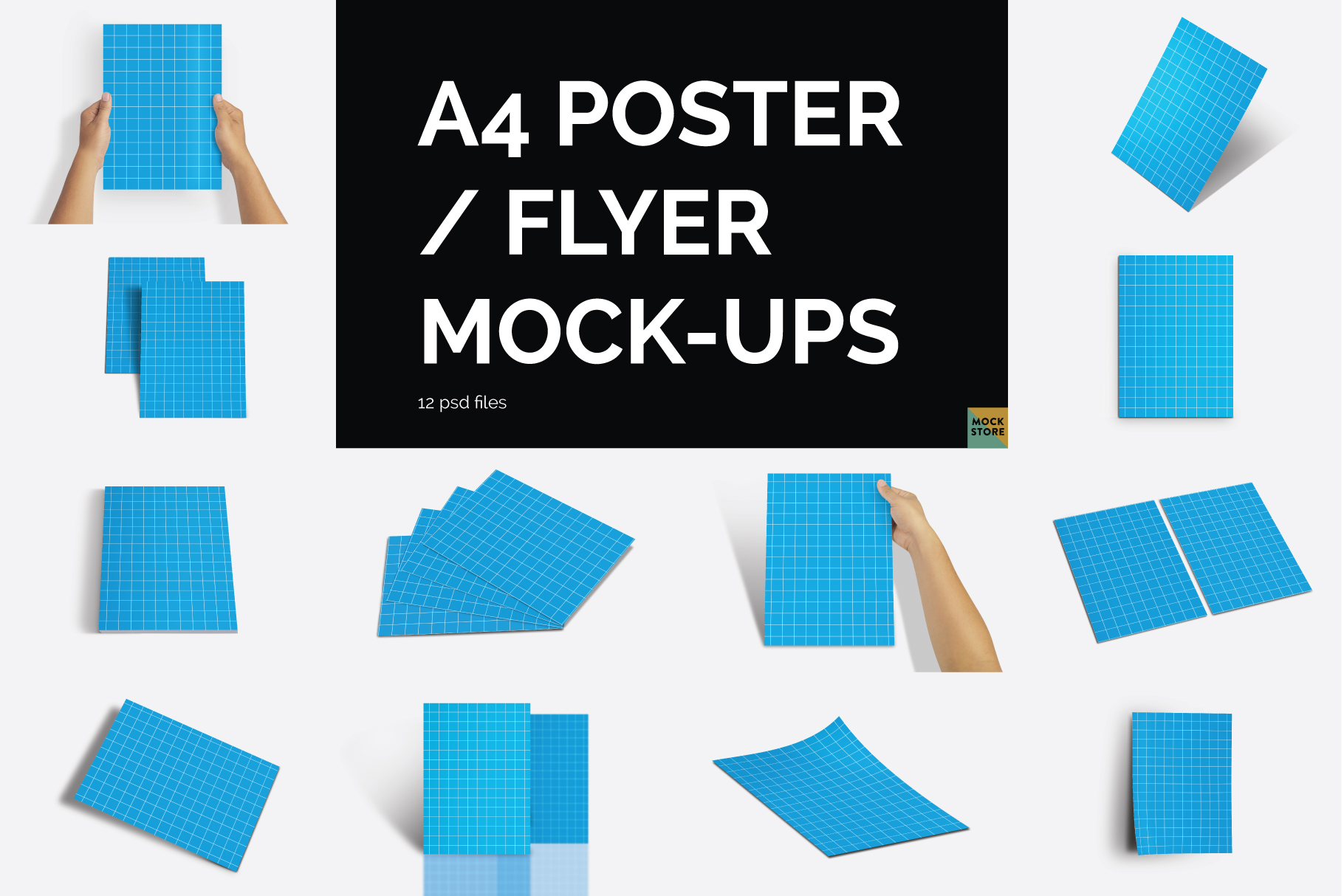 A4 Flyer / Poster Mockups example image 14