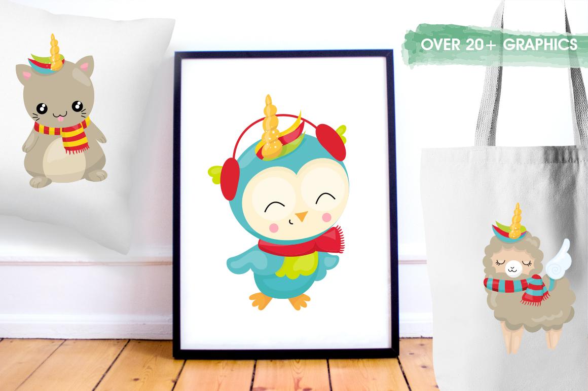 Christmas Wannabe Unicorns graphics and illustrations example image 5